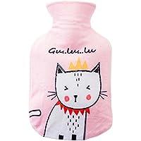 500ml weiche Fleece-Abdeckung + klassische Gummi-Wärmflasche (zufällige Farbe), Katze preisvergleich bei billige-tabletten.eu