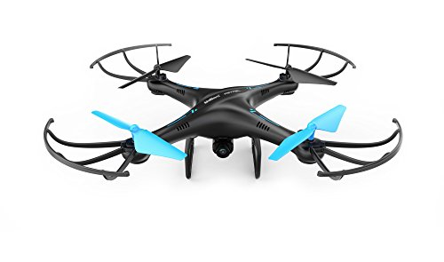 U45 Blue Jay WiFi FPV Drone with HD Camera - RC Quadcopter with Altitude Hold, Custom Route Mode and One Button Take Off and Landing - Includes BONUS Power Bank - VR Headset Compatible