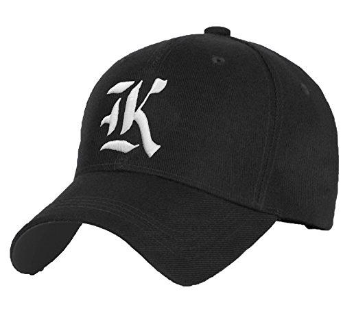 a9ae9a1ed3e874 Cotton Baseball Mütze Cap Caps Gothic 3D A-Z BAD SWAG schwarz Snapback with  Adjustable Strap Snap