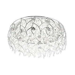 Runde Kristall Deckenlampe LED Deckenlampe stufenlos dimmen intelligente Beleuchtung dekorative Beleuchtung Wohnzimmer LQCN-LED-60cm