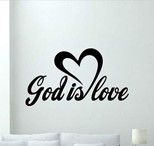 (WFYY Gott Ist Liebe Zitat Wandtattoo Büro Religiöse Vinyl Aufkleber Poster Dekorative Für Wohnzimmer Kirche Dekoration Liebesgott 42X74 cm)