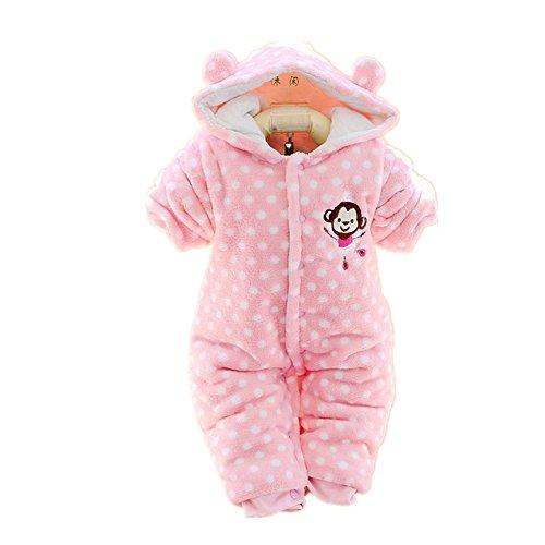 Pormow Herbst-winter Verdickte Warm Unisex Baby Overall Cartoon Kinderkleidung