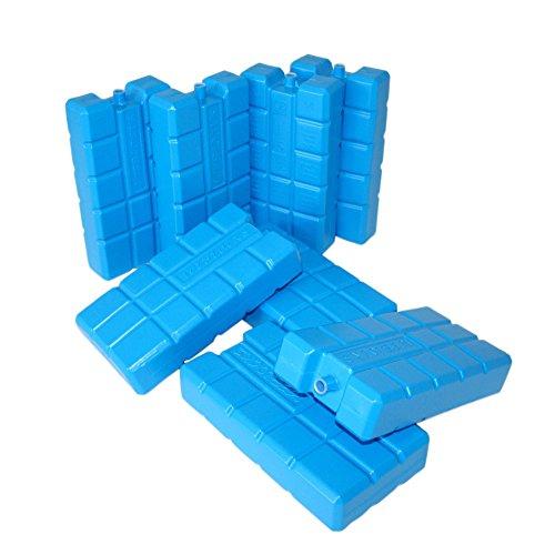 ToCi 8er Set Kühlakku mit je 400 ml | 8 blaue Kühlelemente für die Kühltasche oder Kühlbox