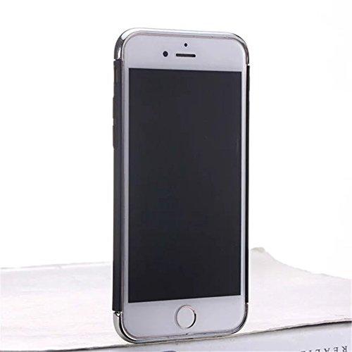 iPhone 7 Plus Coque,Lantier Ultra Thin Luxury Heavy Duty 3 en 1 anti rayures antichoc Armure PC Cover avec anneau Béquille Small Circle pour iPhone 7 Plus5,5 pouces Noir Black