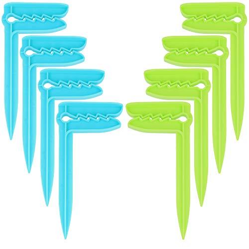 com-four 8X Clips de Toallas de Playa - Pinzas para Toallas para Sujetar - Ideal para la Playa, Viajar, Acampar o Hacer un Picnic (08 Piezas - Arenque)