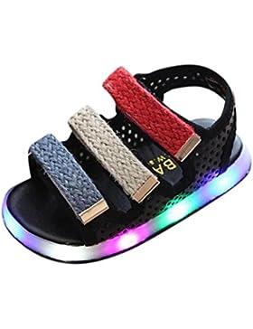 Zapatos Niña,Sandalias de verano para niños pequeños Chicos Chicas Bebé Zapatos luminosos LED Zapatillas deportivas...
