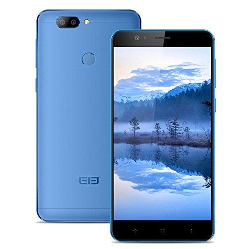 Elephone P8 mini - 4G LTE Smartphone, 5.0 Zoll, Android 7.0, Handy ohne Vertrag, MT6750T Octa-core, 4GB RMA 64GB ROM, 2680mAh, Fingerabdruck-ID, Frontkamera und Dual Back-Kamera, Dual SIM, OTG (Blau)