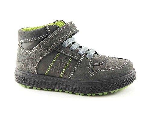 PRIMIGI 66291 31/35 grigio scarpe bambino mid sneaker strappo sportive lacci elastico Grigio