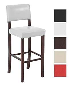 clp tabouret de bar avec dossier sabra en bois rev tu de similicuir repose pieds hauteur. Black Bedroom Furniture Sets. Home Design Ideas
