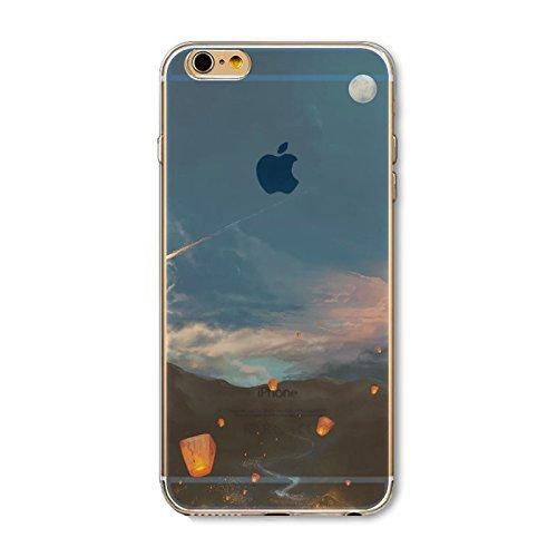 Coque iPhone 5 5s SE Housse étui-Case Transparent Liquid Crystal en TPU Silicone Clair,Protection Ultra Mince Premium,Coque Prime pour iPhone 5 5s-Paysage-style 6 7