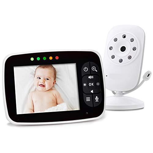 Baby Monitor Wireless Camera 3,5 Pollici LED Video Digitale Con Visione Notturna 2 Vie Radioline Neonati Telecamera