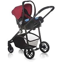 Nurse Roller 2/3 - Sistema modular de silla de paseo y capazo, color rojo / negro
