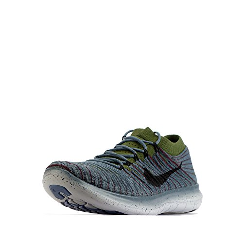 new styles eaf74 fcc1b ... Nike Mens Free Rn Motion Flyknit Scarpe Da Corsa Blu Volpe   Ruvido  Verde   Profondo ...