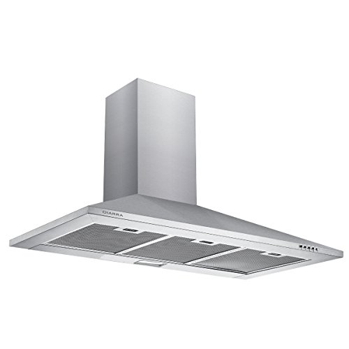 CIARRA Campanas Extractoras Decorativa Cocina 90cm 380m³/h 65W Acero Inoxidable Luces LED...