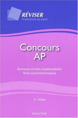 Concours AP : Epreuves écrites d'admissibilité - Tests psychotechniques
