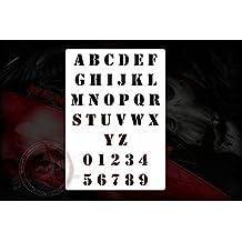 Army Texto letras Plantilla Stencil