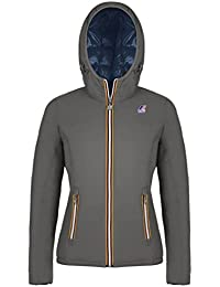 LILY THERMO PLUS DOUBLE989 GREY S BLUE D Kway Piumino double face Grigio 8  S Donna 5900383245b