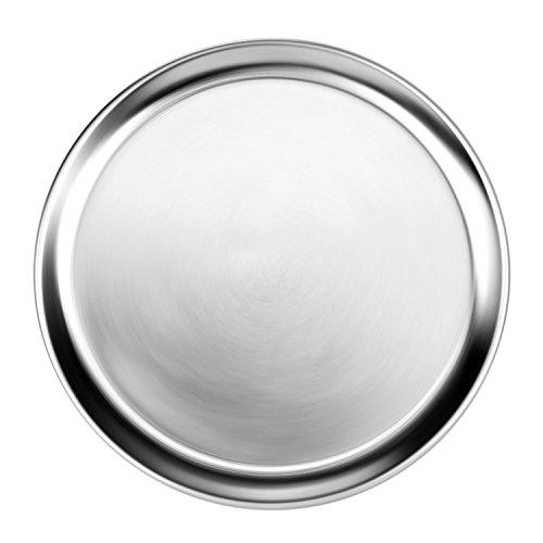 New Star Foodservice 50875Aluminium breitem Rand Pizzablech Pizza Pfanne, Aluminium, Silber, 16-Inch Coupe Pizza Pan