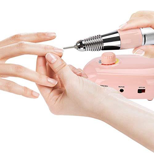 Nagel 35000RMP Berufselektro Ponceuse portative avec perceuse à ongles portable et outils rechargeables