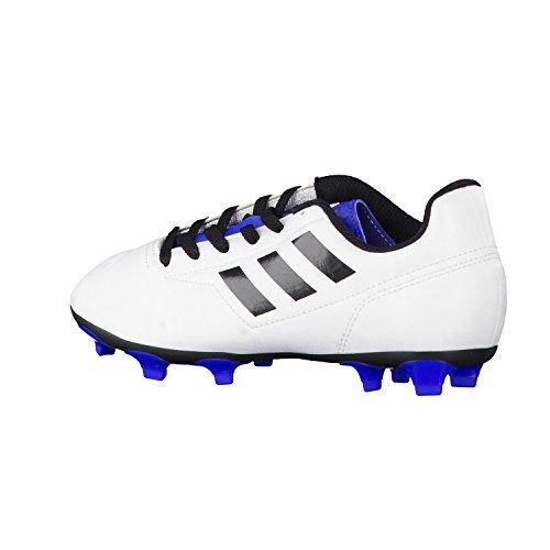 adidas Kinder Fussballschuhe Conquisto II FG ftwr white/core black/blue