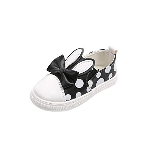Janly New Toddler Baby's Rabbit Casual Sneakers Shoes Outdoor Cute Girl Shoes (Age:3T, Schwarz) (Jelly Shoes Melissa)
