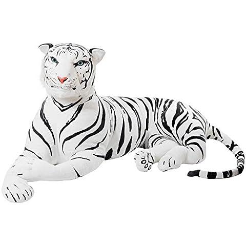 BRUBAKER Gigante Peluche Tigre de Color Blanco de 150 cm