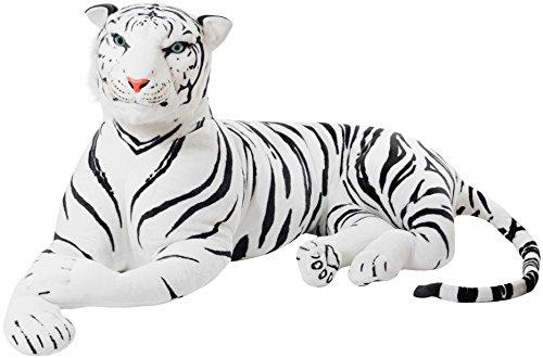 Peluche de Tigre Gigante de Color Blanco de 150 cm