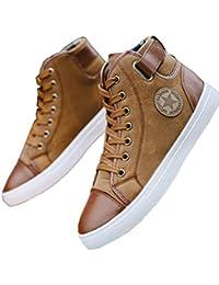 Calzado Casual de Hombre Primavera otoño con Cordones Demin Jeans Zapatos de Lona Calzado de Moda