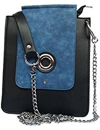 Zobi Fashion Women's Sling Bag Perfect Design (Blue-Black)