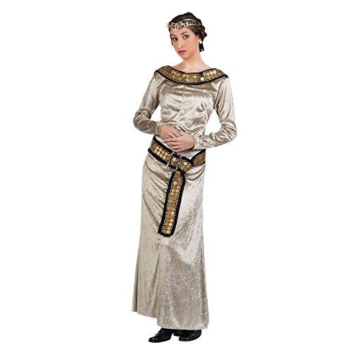 Mittelalterliche Prinzessin Elegantes Damen Kostüm Kleid Samt gold - (Womens Kostüme Renaissance Prinzessin)