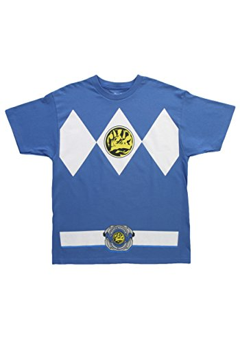 AdamimyClay® Mighty Fine Blue Power Ranger T-Shirt Blue [XX-Large]