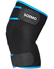 Solimo SOL-PL-NVA04-MV Neoprene Knee Support (Black/Blue)