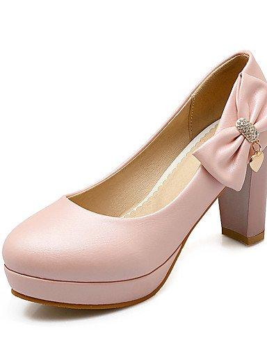 WSS 2016 Chaussures Femme-Mariage / Habillé / Décontracté / Soirée & Evénement-Noir / Bleu / Rose / Blanc-Gros Talon-Talons-Chaussures à Talons- blue-us8.5 / eu39 / uk6.5 / cn40