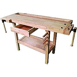 Vigor 4894510Banc de travail en bois, marron