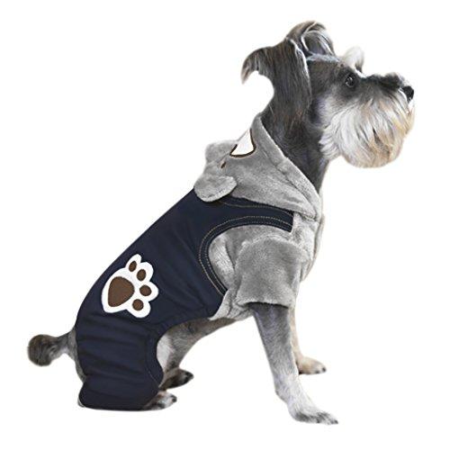 Wintermantel Bear Paw Hundpullover mit Kapuze Hoodie Modische Hundkleidung Sweatshirts Hundmantel Freizeit Winterjacke Verkleidung Cosplay Kostüme für Hund Kleinhund (Sweatshirt Hoodie Cub)