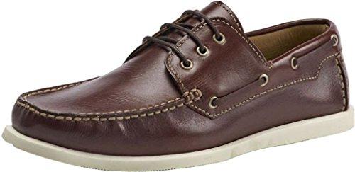 Brent Shoes Men's Boat Burgundy Leather Formals 9 India/UK