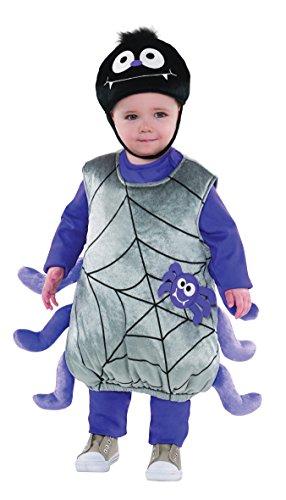 amscan Halloween Spinne Kostüm für Kinder - 2-3 - Bilder Von Kostüm Kinder