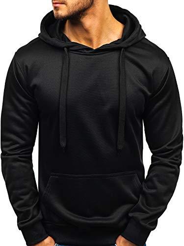 BOLF Herren Kapuzenpullover Sweatshirt Basic Sport Style Casual Style J.Style 22002 Schwarz XL [1A1] Schwarze Kapuze Pullover Sweatshirt