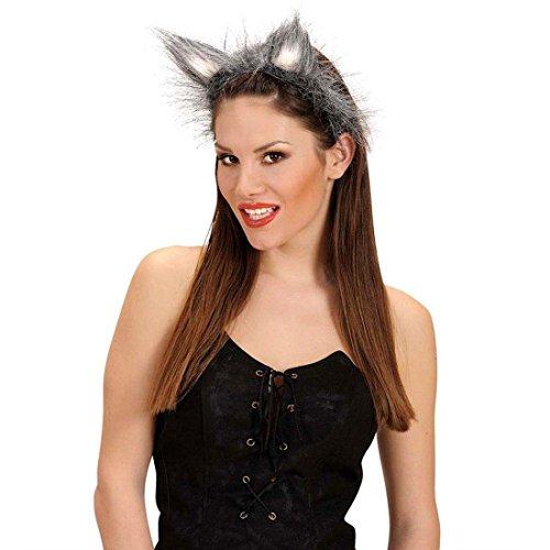Wolfsohren Wolf Plüschohren Wolf Ohren Tierohren Bestie Werwolf Kopfbügel Tierkostüm Zubehör Kostüm Accessoire
