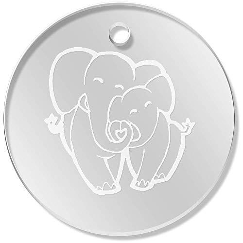 Azeeda 11 x 34mm 'Amor Elefantes' Colgante Claro (PN00052072)