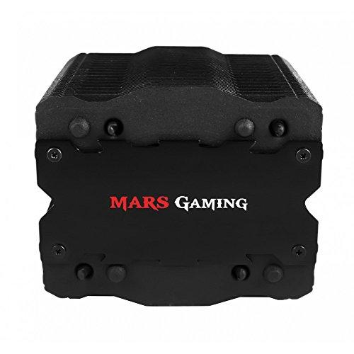 Mars Gaming MCPU2 + Prozessorkühler Gaming für PC Lüfter (92 mm, Aluminium, Beschichtung Nano-cerámico AM4, Halterung), Schwarz