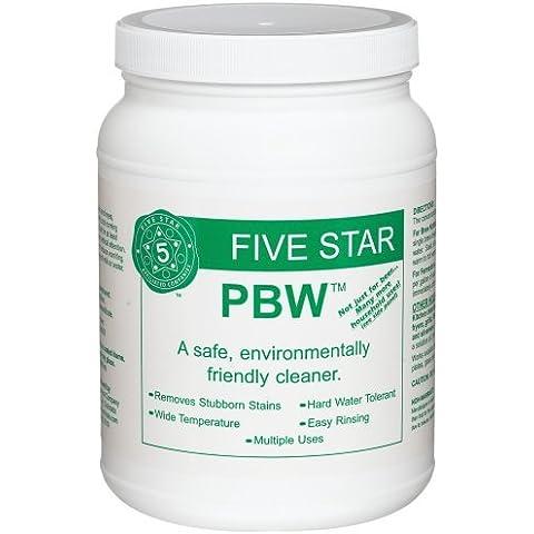 Five Star PBW Cleaner (Powdered Brewery Wash), 4-Pound Jar by Five Star