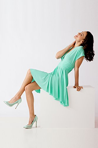 Bestyledberlin Damen Kleider, Tanz Abendkleid Sommerkleid Trägerkleid Partykleid knielang k07p-y Hellrosa