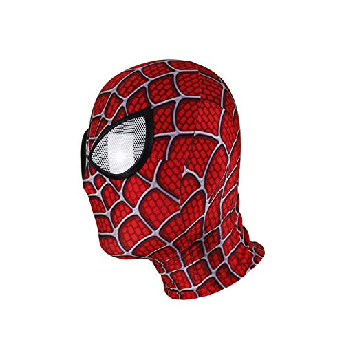 KYOKIM Spider-Man Maske Kind Erwachsener Halloween Mottoparty Lycra Helm Cosplay Karneva Herren Held Vollen Kopf Deluxe Replik,B (Es B-movie Ist Halloween Ein)