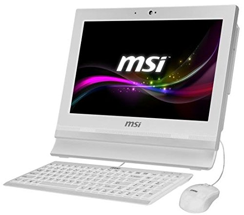 MSI AP1622ET-W10374G50X10PASXH 9S6-A61512-027 39,6 cm (15,6 Zoll) All-in-One Desktop-PC (Intel celeron 1037U, 4GB RAM, 500GB HDD, Intel HD-Grafik, Win 10 Pro Touchscreen)