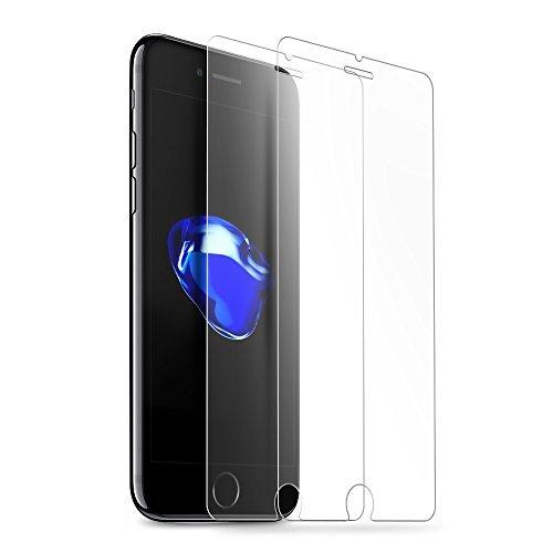 Vontox - 2 películas de Cristal Templado para Proteger la Pantalla de iPhone 7. Ultra Resistente y Compatible con 3D Touch (dureza de 9 H 0,25mm HD Transparente).