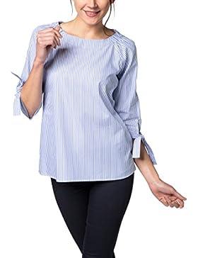 Eterna 3/4 Sleeve Blouse Modern Classic Striped