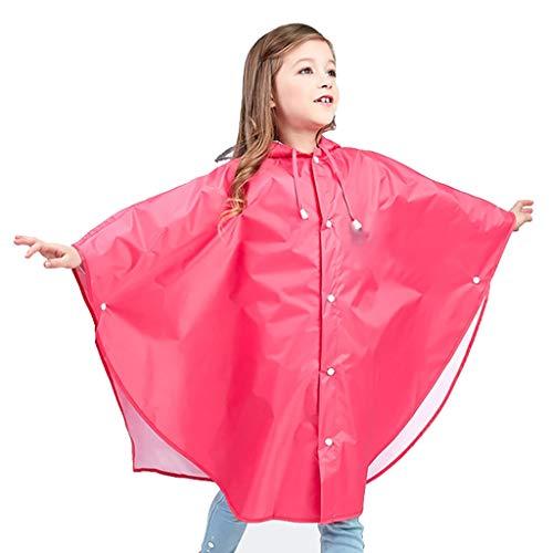 RAINWEAI Regenmantel, Wiederverwendbarer Wasserdichter Kinderponcho, Tragbarer Undurchsichtiger Wanderponcho-Notfallregenmantel (Farbe : Rot, größe : XL)