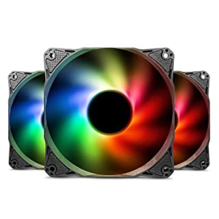 anidees AI-Prismatic RGB LED 120mm verstellbar Gehäuselüftefor PC Case CPU-Kühler und Radiator Triple Set - RGB