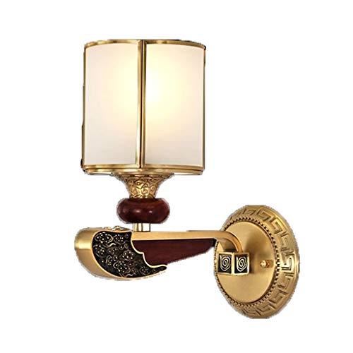 SZHSM Kupfer Kupfer Mahagoni Wohnzimmer Licht Kupfer Lampe Hotel Gang Duplex Boden Kupfer Wandleuchte Nachttischlampe - Mahagoni Böden